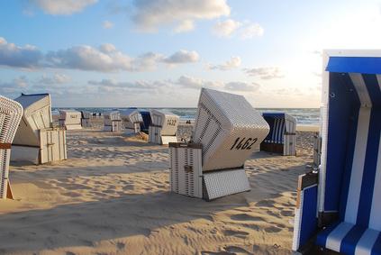 Sommer-Sonne-Meer und Wind