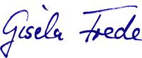 Unterschrift Gisela Frede